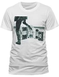 Live Nation Men's The Clash - Hits Album Jumbo Crew Neck Short Sleeve T-Shirt