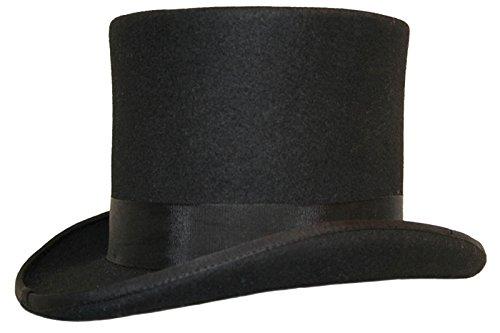 rhut, satingefütterter Hut aus 100% Wollfilz (Black Top Hats)