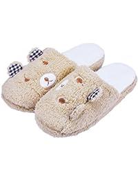 zapatillas de estar por casa Vovotrade Zapatillas acolchadas de algodón