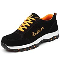 WYBFBYQ Fashion labor security shoes, breathable/Anti-smash/Anti-Thorn/Anti-static/light, Industrial Construction men and women work safety shoes,39