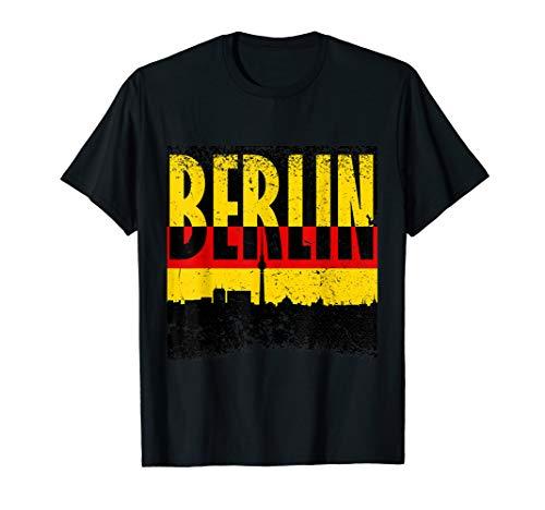 Berlin Mutterstadt Deutschland City Hauptstadt Flagge Design T-Shirt -
