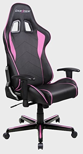 416nsSuxj7L - DXRacer  - Silla Gaming fl08 Negro y Rosa