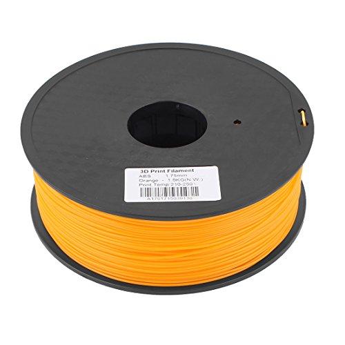Preisvergleich Produktbild sourcingmap® Orange 1,75mm ABS 1kg 3D Drucker Filament für RepRap Weistek Huxley Up de
