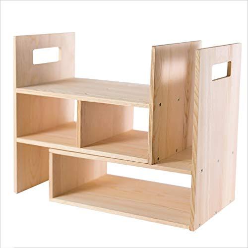 YC electronics Bücherregale Desktop Storage Cabinet, einfache kleine Regal auf dem Schreibtisch, Studenten Massivholz multifunktionale freie Kombination Bücherregal Büroschränke ablagen