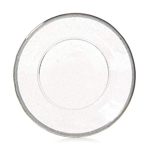 YANKEE CANDLE Kensington - Pantalla y Plato para lámpara (Cristal, tamaño Grande), Transparente