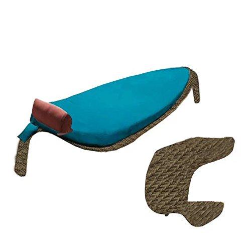 Sungao Nachahmung Bambus und Rattan Wicker Lounge Bett Set/Lounge Bett Suite/Lounge Bett Satz/sitzer / Sessel/couchtisch / teetisch/couchtisch / beistelltisch/Ende Tabelle