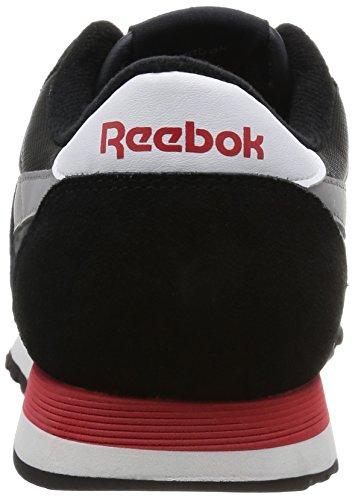 Reebok Classic Nylon, Scarpe da Corsa Bambino Nero / Grigio / Rosso / Bianco (nero / carbone / Tin Grigio / Scarlet / bianco)