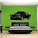 Sticker Mural Autocollant De Voiture Pour Ford Mustang 1969 Muscle Classique Art Wall Decal pour le salon de la chambre des garçons