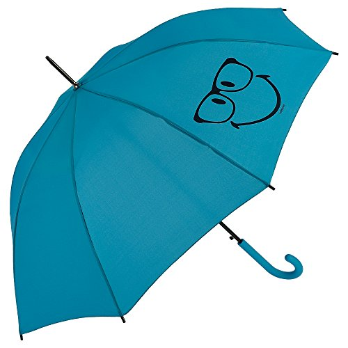 Smiley - Paraguas Largo - Automático - Azul turquesa
