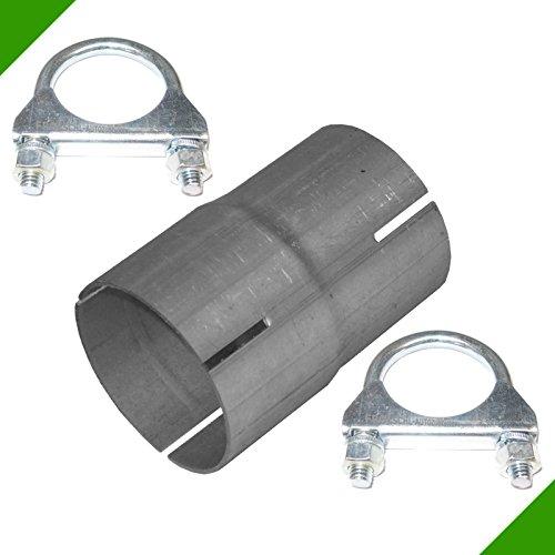 Reduktion von 60mm auf 65mm Auspuff Adapter inkl. 2 Schellen Abgasanlage Rohrverbinder Rohr Reduzierstück Rohrreduzierung Reduzierverbinder Verbindungsstück Klemmstück Reduzierung -