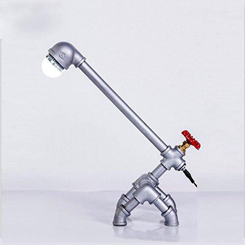 TOYM UK Lampe de table à eau mode créative LED lampe à économie d'énergie salon personnalisé lampe de bureau étude de chambre ( Couleur : Silver (warm) )