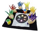 IGELIX Farb-Steckspiel Igelrennen (incl. Mini`s Kniffel-Überraschung)| Zuordnungsspiel | Sortierspiel |frühe Motorik|Farben zuordnen | Koordination Feinmotorik| Kreativität