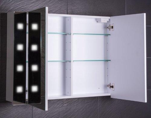 Spiegelschrank Holz Galdem Cube, 100 cm - 2