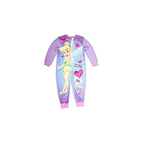 Disney Fairies Mädchen Onesie Tinkerbell (7-8 Jahre (128)) (Bunt)