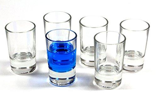 idea-station Straight Vidrios de tiro 6 piezas, máx. 4,2 cl de vidrio