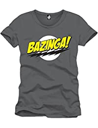 The big bang theory t-shirt pour homme bazinga original gris