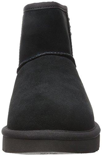 Tronchetto UGG Classic II Mini Pearls in camoscio nero con perle Black