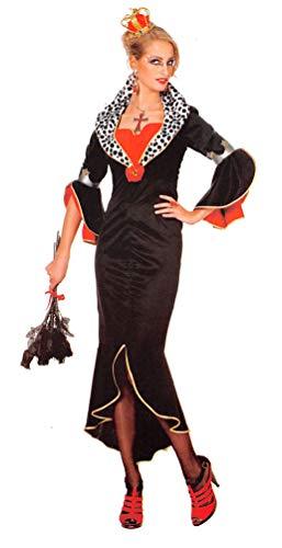 Karneval-Klamotten Cruella Kostüm Damen Märchen-Prinzessin Größe ()