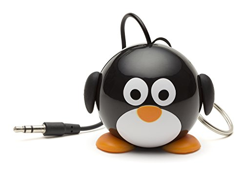 KitSound Mini Buddy Universal Lautsprecher mit 3,5mm Klinkenstecker und USB-Ladekabel Kompatibel mit Smartphones, Tablets und MP3 Geräten wie iPhone 4/4S/5/5S/5C/SE/6/6 Plus/6S/6S Plus, iPad 2/3/4/Air/Mini/Pro, iPod Nano 7, Touch 5, Samsung Galaxy S3/S4/S5/S6/S6 Edge/S6 Edge+/S7/S7 Edge, Galaxy Note 2/3, Galaxy Tab 2/3/4, Xperia Z1/Z2, HTC One/One M8 und Google Nexus 5/7/10 - Pinguin