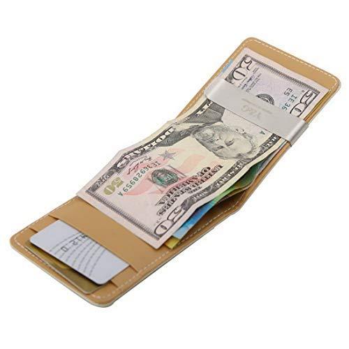 YG MW10 Geldklammer für Männer, handgefertigt, Valentinstagsgeschenk - Braun - Einheitsgröße