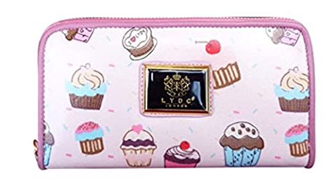 Girly HandBags Cupcake Print Glossy Patent Ladies Wallet Womens LYDC Purse Boxed Gift Designer --