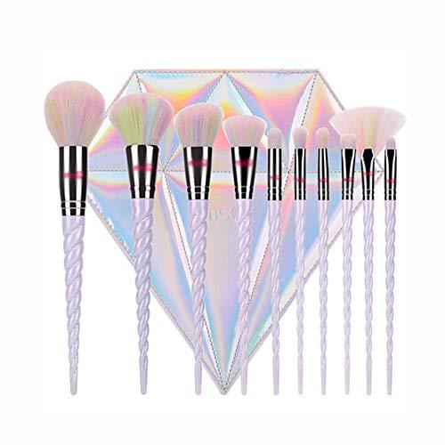 CC-Makeup Brush Set de pinceaux de Maquillage Pinceaux cosmétiques Professionnels avec des soies de Fibres synthétiques Douces et sans cruauté
