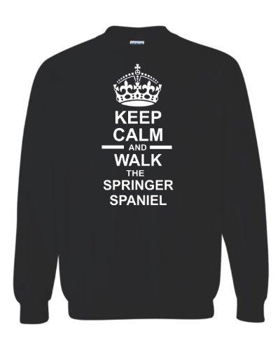 Keep Calm & Walk The Springer Spaniel Unisex Sweatshirt Jumper