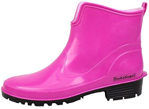 BOCKSTIEGEL® SASKIA Donna - Mezzo Stivali di gomma alla moda (Taglie: 36-42) Fuchsia / Black