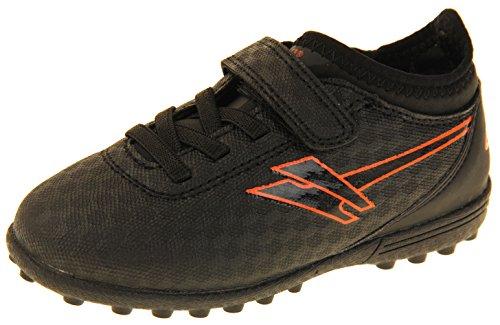 Gola Jungen Activo5 Astroturf Fußballschuhe Sports Turnschuhe Schwarz und Orange EU 28 (Schwarz Schuhe Gola)