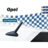 AM/FM KFZ-Auto-Tuning-Kurzstab-Sport-Dach-M5+M6 Gewinde-Ersatz-Antenne für OPEL