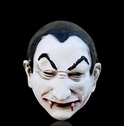 Bad boy Latex Kopfbedeckungen/Zombie Narbe Gesicht/Bar Kammer frequentierte furchterregende (Furchterregende Schädel Gesichter)