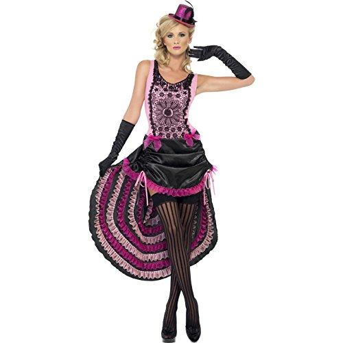 Smiffys Burlesque Beauty Kostüm pink Damen Western Saloon Tänzerin Gr. M