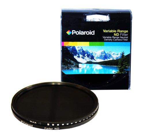 Filtro ottico a densità neutra (Neutral density, ND) da 72 mm ad alta definizione della Polaroid rivestito da diversi strati che garantiscono l'attenuazione di diverse gamme di colore (ND3, ND6, ND9, ND16, ND32, ND400): 6 filtri in 1!
