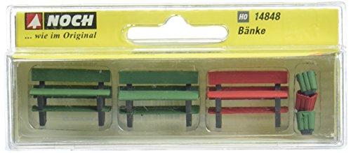 Noch - 14848 - Modélisme Ferroviaire - 4 Bancs + Accessoires