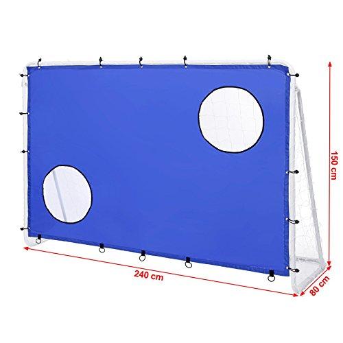 Songmics Fußballtor Maße 240x150x90cm Nets Portable Blau SZQ240 - 7