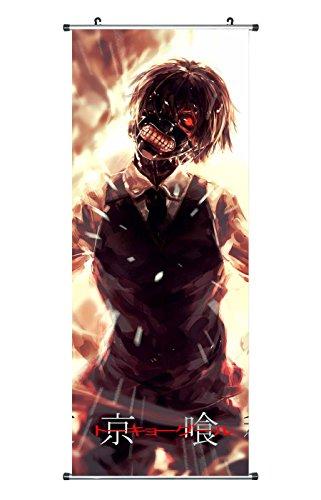 100 Ken (CoolChange Großes Tokyo Ghoul Rollbild / Kakemono aus Stoff Poster, 100x40cm, Motiv: Ken Kaneki, Bild 2)