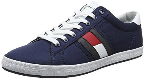 Tommy Hilfiger Herren Essential Flag Detail Sneaker Blau (Tommy Navy 406) 43 EU