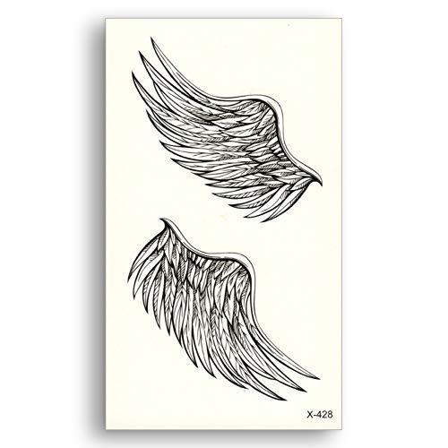 Mrkal tatuaggio temporaneo ali d'angelo acqua trasferimento falso tatuaggi monouso impermeabile adesivi temporanei bellezza donna uomo bellezza sexy cool body art 10.5x6cmx8pcs