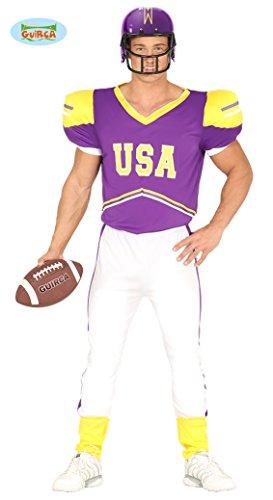 Damen Kostüm Spieler Baseball - Quarterback Football Spieler - Kostüm für Herren Karneval Fasching Sport Gr. M-L, Größe:L
