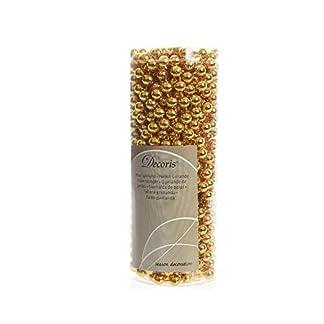 Decoris-566-Perlenkette-gold-Kunststoff-8mm-x-10m
