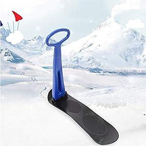ZHAOK Ski Schlitten Downhill Winter-Schlitten, Außen Schlitten, faltbar Schneedecken, Schlitten Mit Grips, Ski Carts, Ski-Zubehör, Schlitten, Ski Anfänger Ski,Blau