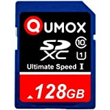 128Go QUMOX SD XC 128 Go GB SDXC Class 10 UHS-I Secure Digital 128GB Carte Mémoire HighSpeed   Write Speed 60MB/s read speed upto 80MB/s