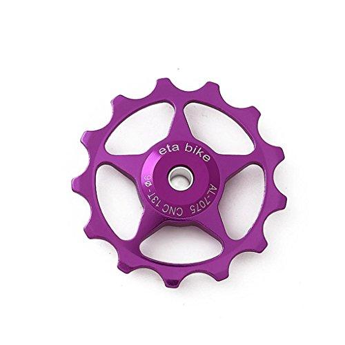 hunpta 13Z MTB Aluminium Jockey Rad Fahrrad Schaltwerk Pulley Führungslager,, violett
