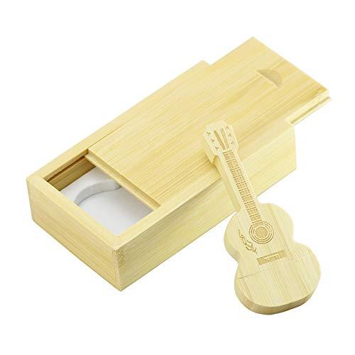 32GB Guitarra + Caja Madera Forma USB Flash Drive