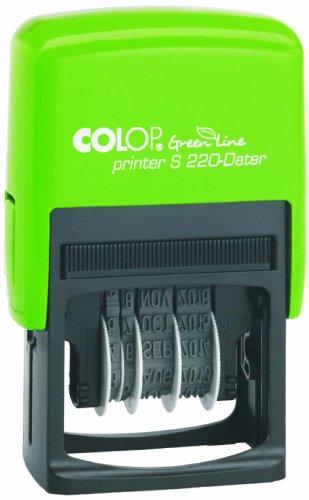 Colop 15520050 S220 Green Line Datumsstempel (12 Jahre, selbstfärbend, 22 x 4 mm) schwarz