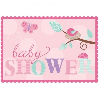 Amscan Tweet Baby Girl Invites with Sticker Seals Party Accessory