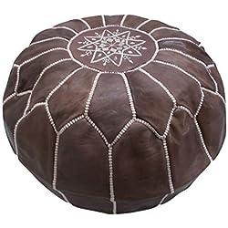 Puff Puff Puf Puf Marruecos Árabe marroquí De Cuero Genuino cuero étnico reposapiés OTOMANO Handmade 2310181413