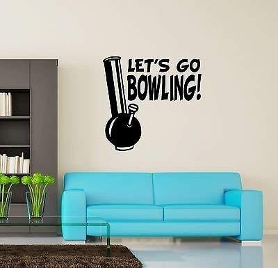 Wall Vinyl Marihuana Weed Lets Go Bowling Smoking VS3394