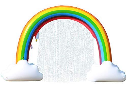 Langxun giant gonfiabile arcobaleno arco sprinkler outdoor garden water feature sprinkler divertimento estivo per bambini, adulti e animali domestici