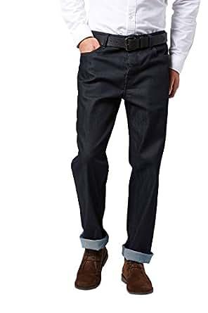 Image indisponible. Image non disponible pour la couleur   Next Jean Enduit  avec Ceinture - Coupe Droite Coupe Droite. Homme Denim Brut ... 577c9b017b3
